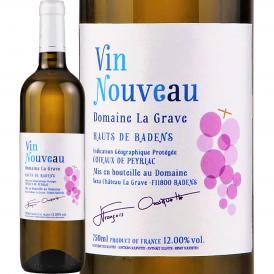 ボージョレーヌーボー 【新酒先行予約11月19日以降お届け】ドメーヌ・ラ・グラーヴ・ヌーヴォー・ブラン 2020【フランス】【白ワイン】【750ml】【辛口】 【Domaine La Grave】【ヌ