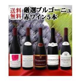 【送料無料】特大感謝のブルゴーニュ赤ワイン大放出5本セット