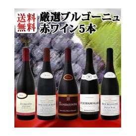 【送料無料】特大感謝のブルゴーニュ赤ワイン大放出5本セット!!!