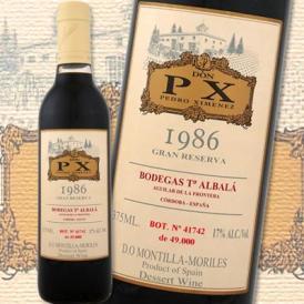 ボデガス・トロ・アルバラ・ドン・PXペーエキス・グラン・レセルバ 1986【スペイン】【デザートワイン】【375ml(ハーフボトル)】【フルボディ】【極甘口】【モンティーリャ・イ・モリ