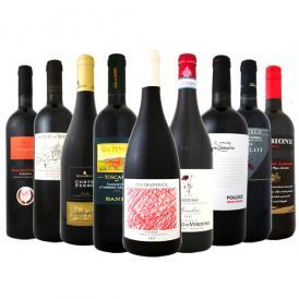 【送料無料】100セット限り≪バラエティ豊かな個性を大満喫!!≫厳選イタリア赤ワイン9本セット!