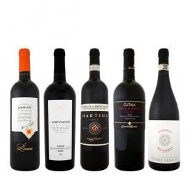 【送料無料】銘醸ブルネッロ入り★ワンランク上の厳選イタリア赤ワイン5本セット