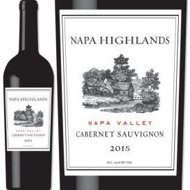 ナパ・ハイランズ・ナパ・ヴァレー・カベルネ・ソーヴィニョン 2015 アメリカ 赤ワイン 750ml フルボディ 辛口