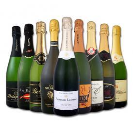 【送料無料】日欧EPA発効記念セール!限界突破の32%OFF!シャンパン入り辛口スパークリングワイン9本セット!