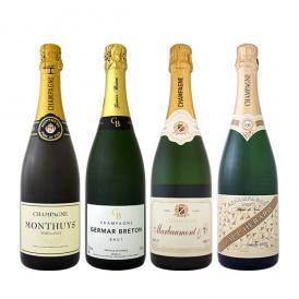 【送料無料】全てシャンパン!数量限定本格派シャンパン4本セット!