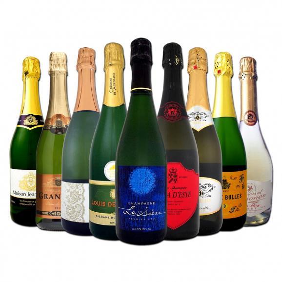 【送料無料】シャンパン&ヴィラ・デステ入り辛口スパークリングワイン9本セット!01