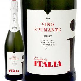 ヴィノ・スプマンテ・ブリュット・クレアート・イン・イタリア Italy イタリア Italy 白スパークリング sparkling ワイン wine 750ml 辛口