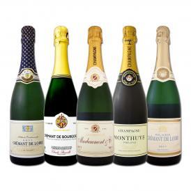 シャンパン2本入り 自信を持ってお届けするフランス France 格上スパークワイン wine 5本セット set