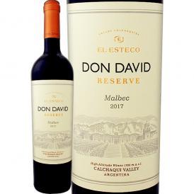 ドン・ダヴィ・マルベック・レゼルヴァ 2018 アルゼンチン 赤ワイン wine 750ml 辛口 El Esteco 評価誌92点