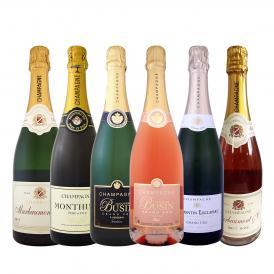豪華絢爛 グランクリュ白とロゼ rose まで入った圧倒的エレガンス 白&ロゼ rose シャンパンの宴 リッチで優美な高級シャンパン6本セット set