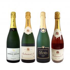 特級グランクリュ入り 1本あたり2500円 税別 厳選された高級辛口シャンパンがこの価格 さらにお得になった豪華絢爛シャンパン4本セット set