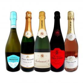 第7弾 これぞ贅沢 シャンパンも入ったバラエティ豊かな魅惑の上質スパークリング sparkling が1本あたり1760円 税別 決定版 格上高級泡5本セット set