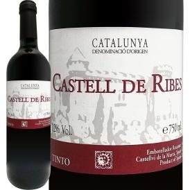 カステイ・デ・リベス・ティント スペイン Spain 赤ワイン wine ミディアム寄りのライトボディ 750ml カタルーニャ テンプラニーリョ メルロー 老舗 家族経営ワ