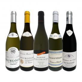 厳選ブルゴーニュ bourgogne 白ワイン wine 5本セット set