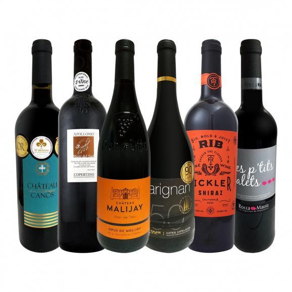 第1弾 当店 極 厳選 赤ワイン wine 好きならこのセット set 格別の美味しさ コク旨上質赤ワイン wine を存分に味わう贅沢赤ワイン wine 6本セット set 01
