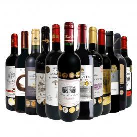 39%OFF 圧巻の金賞尽くし 金賞合計35個 ボルドー bordeaux 、南仏、スペイン Spain から金賞を獲得した厳選赤のみを選び抜いた、豪華金賞赤ワイン wine 12本