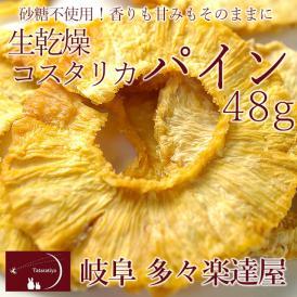 岐阜 多々楽達屋 生乾燥コスタリカパイン48g ドライフルーツ 砂糖不使用 たたらちや パイン パイナップル クール冷蔵便 #8