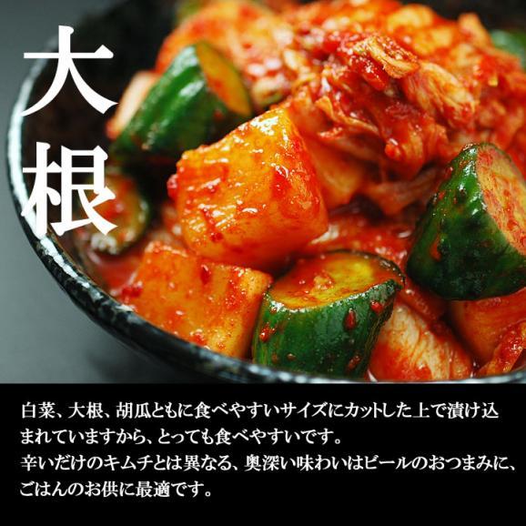 白菜・大根・胡瓜を一緒に楽しむ本格手作りミックスキムチ500g(袋入)【冷蔵限定】#803