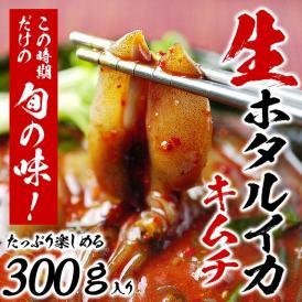 とれたて新鮮 生ほたるいかキムチ300g (ホタルイカ キムチ)3〜5月にしか水揚げされない逸品!【冷凍・冷蔵可】