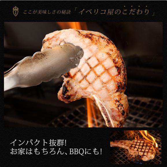 【送料無料】イベリコ豚 骨付き ロース ステーキ 5枚 (約600g) Lボーンステーキ 贈り物 BBQ 冷凍 イベリコ屋 ※ Lボーン 5枚600g04