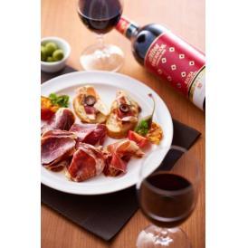 【父の日 ギフト】最高級イベリコ豚 4年熟成生ハム100g&赤ワインセット