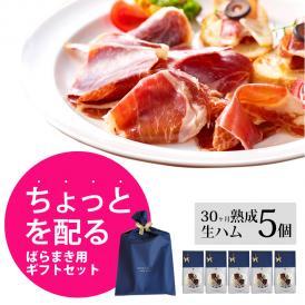 【配るギフト】イベリコ豚 生ハム 30ヶ月熟成 20g×5セット プレゼント お返し ミニギフト