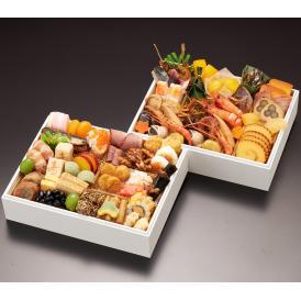 【早割】【送料無料】2021 日本橋笈川 宴ニ段重【55品】【冷凍】【2~3人前】【和風】