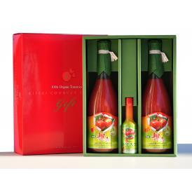 有機輝赤トマトジュース720ml 2本&有機トマスコセット