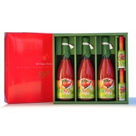 有機輝赤トマトジュース720ml 3本&有機トマスコセット