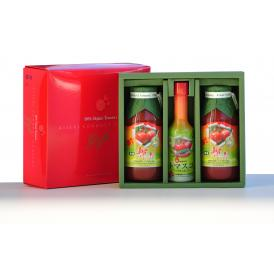 有機輝赤トマトジュース180ml 2本&有機トマスコセット
