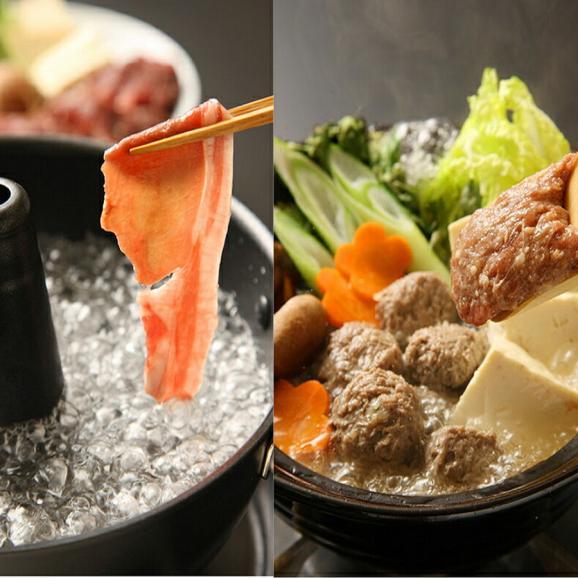 【送料無料】紅葉鍋セット(ロース モモ 生つみれに特製もみじ鍋スープ付き)01