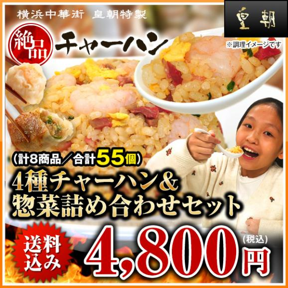 4種チャーハン&惣菜詰め合わせセット(計8商品/合計55個)【全国送料無料】03