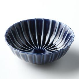 ぎやまん陶 浅小鉢 茄子紺ブルー