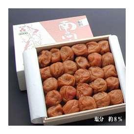 桐箱入り梅干−紀州・南高梅 みなべ産 蜂蜜梅干し 400g (塩分約8%)