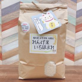 有機米れんげ米 福井県産 いちほまれ 白米5kg