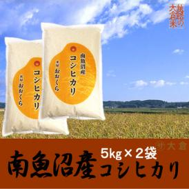 南魚沼産コシヒカリ 10kg(5kg×2袋)(令和元年産)【送料無料(本州のみ)】