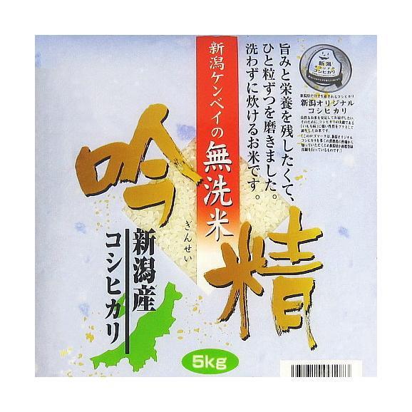 《無洗米》 新潟産コシヒカリ(令和元年産) 5kg【送料無料(本州のみ)】01