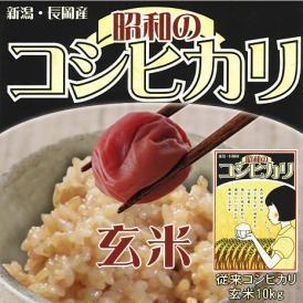 【玄米】昭和のコシヒカリ(新潟県産コシヒカリ)玄米10kg(5kg×2)(令和2年産)【送料無料(本州のみ)】