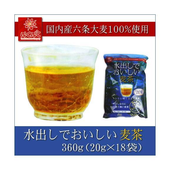 はくばく 水出しでおいしい麦茶 360g(20g×18パック)01