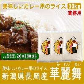 《カレー専門店用》新潟県長岡産美味しいカレー用のライス(令和2年産)30kg【送料無料(本州のみ)】