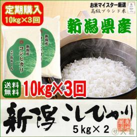 新米(平成29年)【定期購入】 新潟県産コシヒカリ 10kg (5kg×2袋)平成29年産【送料無料(本州のみ)】