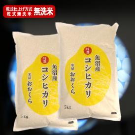 【無洗米(乾式)】魚沼産コシヒカリ (特選) 10kg(令和元年産)【送料無料(本州のみ)】