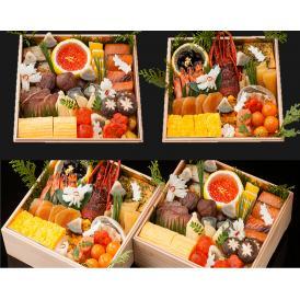 極上おせち2段重 新潟の美食は小三にあり~日本料理 小三~【送料無料】【生おせち】【1人~2人前】【27品目】