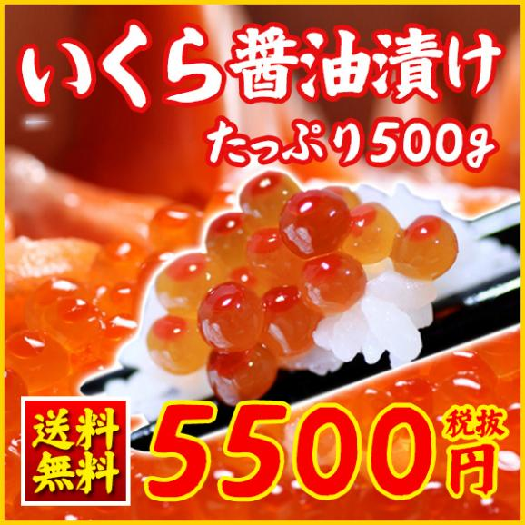 【送料無料】<醤油いくら(イクラ)500g>ギフトに!おつまみに!01