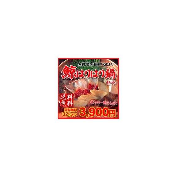 【送料無料】<ミンク鯨のハリハリ鍋セット>南氷洋の安全なミンクくじら使用!【冷凍便】(はりはり・クジラ)01