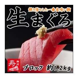 【冷凍・冷蔵同梱可】生まぐろ(マグロ)刺身約1.2kgブロック!!うまい!