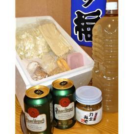 プレゼント ご贈答 特選ギフト ちゃんこ鍋セット力士みそ付き プレミアムビール2缶プレゼント