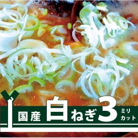 【イベント・町内会・学祭・店舗・屋台用】ラーメンの具として最適な切り幅!スープとの絡み具合は抜群   白ねぎ3ミリカット1kg