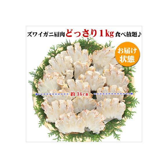 生ズワイガニ肩肉ハーフカット1kg[送料無料](他商品と同梱OK)04