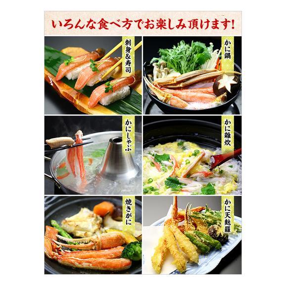 【生食OK】カット生ずわい蟹(レギュラー品/白箱)[送料無料]内容量750g/総重量1000g約3人前※たっぷり食べたい場合は2セット購入がお勧め!04